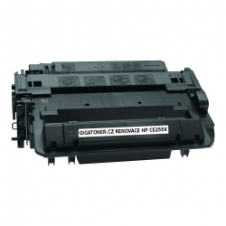 Renovovaný toner HP CE255X no. 55X 12500 stran HP LJ P3010 P3015